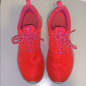 Neon Pink & Orange Nike Roshe One